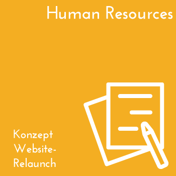 Human Resources Konzept Website Relaunch