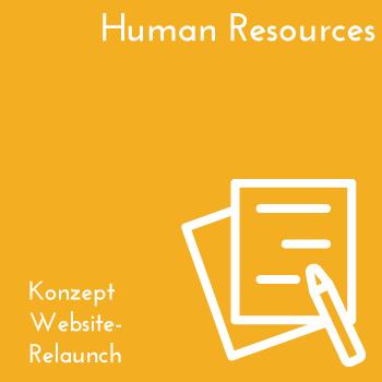 Human Resources Konzept Website Relaunch